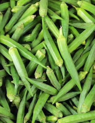 Fresh Okra, Bhindi, Lady's Finger, ঢেঁড়স