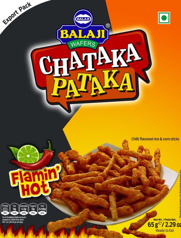 Balaji Chataka Pataka Flamin Hot 65g-Tukwila Online Market