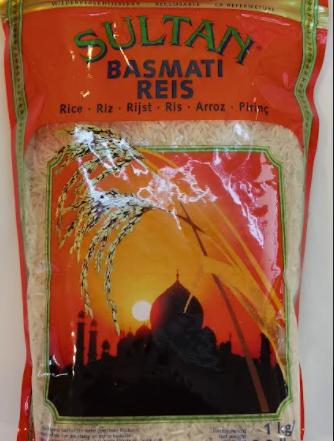 Sultan Basmati extra long grain Rice Reis-1kg-Tukwila Online Market in Germany